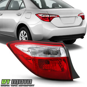 For 2014 2016 Toyota Corolla Red Clear Tail Light Signal Lamp Outer Driver Side