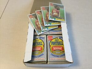 1981 Topps Coke Coca Cola Football unopened cello pack box art monk