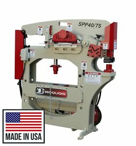 On Sale Now New Iroquois Hydraulic Ironworker 75 Ton Punch 40 Ton Press Shear