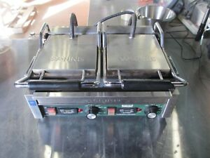 Waring Wpg300t Ottimo Grooved Panini Press Sandwich Grill W Timer