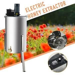 3 frame Electric Honey Extractor Beekeeping Equipment Drum W Stand 140w 24