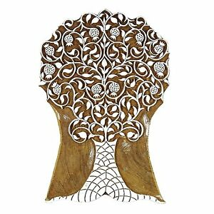 Handmade Wooden Large Tree Stamp Hand Carved Printing Block Textile Blocks Paint