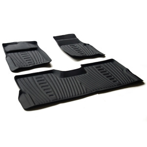 For 2009 2014 Ford F 150 Supercrew Crew Cab Pickup 4 Door 3pcs Floor Mats Black