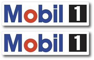 2x Mobil 1 Oil Racing Decal Sticker 3m Vinyl Vehicle Window Wall Car One Drag
