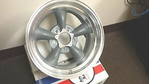 4 15 Inch 15x7 15x8 Torq Thrust D Gray Rims Wheels Old School Classic 5x4 75