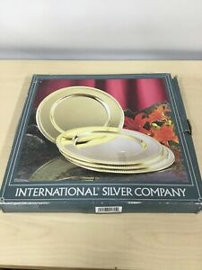 International Silver Company Plates Brass Plates Charger Plates