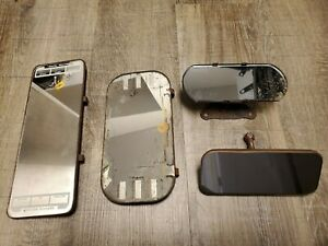 Vintage Auto Mirror Rear View Vanity Mirror Lot Of 4 Chevy Ford Oldsmobile