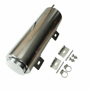 32 Oz 3 X 10 Polished Stainless Steel Radiator Coolant Over Flow Puke Tank Can