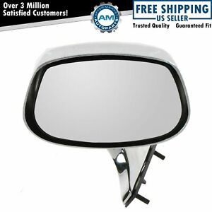 Manual Chrome Side View Mirror Driver Left Lh For Buick Chevy Olds Pontiac