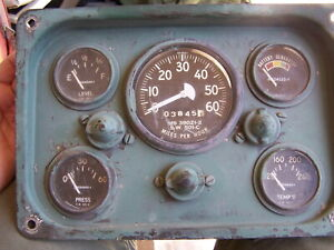 Us Military Willys Jeep M151 Mutt Speedometer Gauge Cluster Ms 39021 2 Sw 501 c
