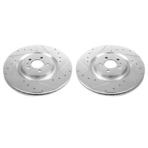 Ar85151xpr Powerstop 2 wheel Set Brake Discs Front Driver Passenger Side New
