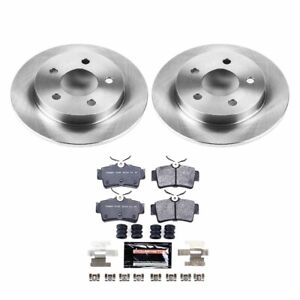 Tdbk1303 Powerstop 2 wheel Set Brake Disc And Pad Kits Rear New For Ford Mustang