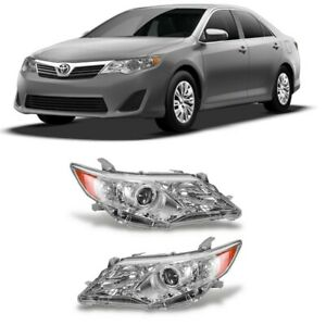 Headlight For 2012 2013 2014 Toyota Camry Left Chrome Housing With Bulb Hot