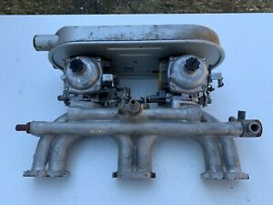 1968 72 Triumph Gt6 Intake Maniflod With Carbs And Air Cleaner