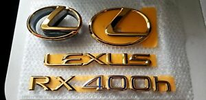 Fits New Lexus Rx400h Complete Emblem Full Complete Kit Word Gold 2006 2007 2008