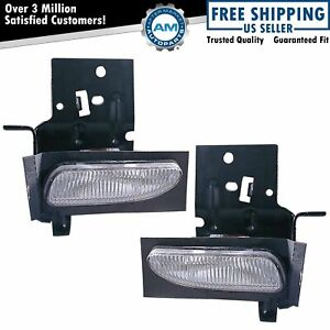 Fog Driving Lights Lamps Left Lh Right Rh Pair Set For 96 98 Ford Mustang Gt