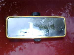 Gold Bezel Style Rear View Mirror Glass Black Back Glue On Style Day Nite Gm2