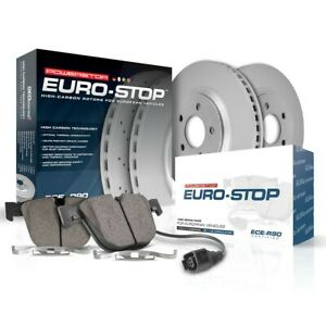 Esk985 Powerstop Brake Disc And Pad Kits 2 Wheel Set Front New For Saab 9 3 9 3x