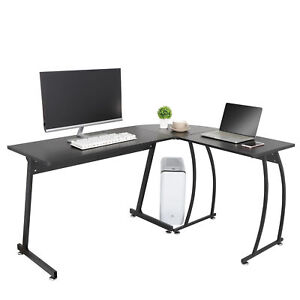 L shape Corner Desk Computer Game Office Durable Laptop Workstation Study Home