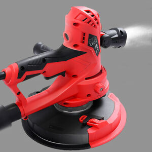 Electric Handheld Drywall Sander 710w Variable Speed With Vacuum Led Light
