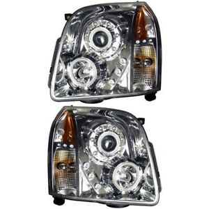111147 Anzo Headlight Lamp Driver Passenger Side New For Yukon Lh Rh Gmc 07 14