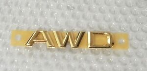 Fits New Lexus Ls460 Gs350 Is350 Is250 Complete Emblem Rear Awd Word Gold