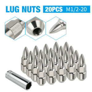 20x Stainless Steel 1 2 20 For Ford F100 F150 Explorer Closed End Wheel Lug Nuts