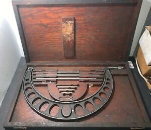 Brown Sharpe 12 16 Micrometer Set Parts Only Machinist Lathe