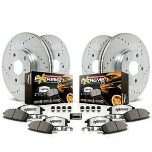 K1919 36 Powerstop Brake Disc And Pad Kits 4 Wheel Set Front Rear New For Ford