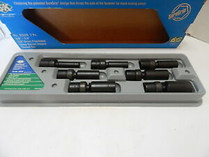 Sk 3 8 Drive Deep Swivel Impact Socket Set 3 8 3 4 6 Point 33329