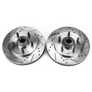 Ar8584xpr Powerstop 2 wheel Set Brake Discs Front Driver Passenger Side New