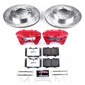 Kc1132a 36 Powerstop Brake Disc And Caliper Kits 2 wheel Set Front New For Lx470