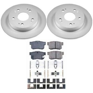 Crk1243 Powerstop Brake Disc And Pad Kits 2 wheel Set Rear New Coupe For Civic