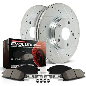 K1043 Powerstop Brake Disc And Pad Kits 2 wheel Set Front New Coupe Sedan