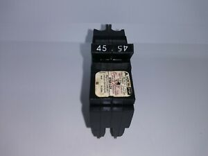American Federal Pacific Fpe Nc245 2 Pole 45 Amp Thin Circuit Breaker 0245 Flaw