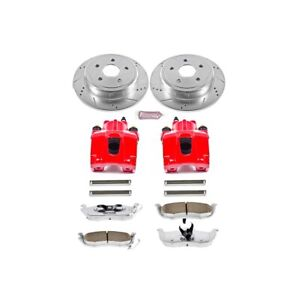 Kc2221 26 Powerstop 2 wheel Set Brake Disc And Caliper Kits Rear For Jeep 05 10