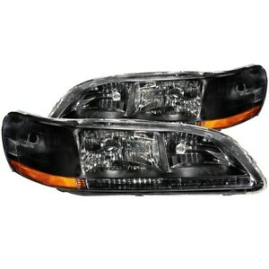 121052 Anzo Headlight Lamp Driver Passenger Side New Lh Rh For Honda Accord