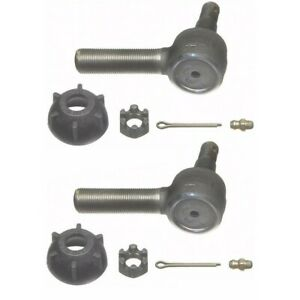 Set Moes416l R Moog Set Of 2 Tie Rod Ends Front Or Rear Driver Passenger Pair