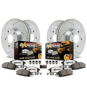 K2430 36 Powerstop 4 wheel Set Brake Disc And Pad Kits Front Rear New
