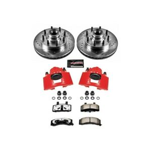 Kc2947 36 Powerstop Brake Disc And Caliper Kits 2 Wheel Set Front For Chevy