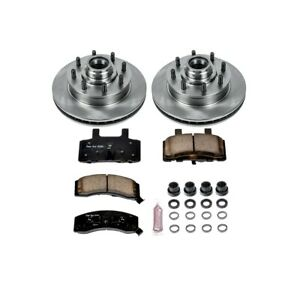 Koe2947 Powerstop 2 Wheel Set Brake Disc And Pad Kits Front New For Chevy Savana