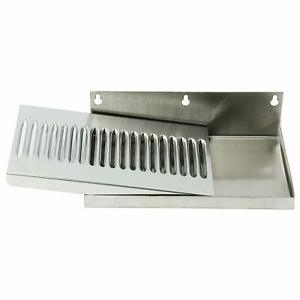 Draft Beer Drip Tray Wall Mount Drip Tray No Drain Stainless 10 X 6 Drip Tray