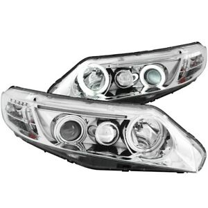 121061 Anzo Headlight Lamp Driver Passenger Side New Coupe Lh Rh For Civic