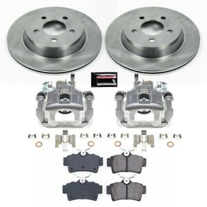 Kcoe1306a Powerstop 2 wheel Set Brake Disc And Caliper Kits Rear For Mustang