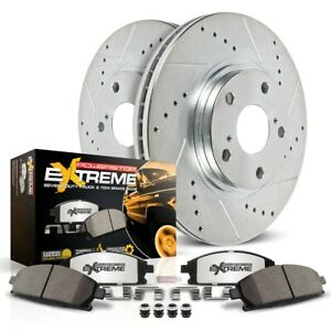 K5225 36 Powerstop 2 Wheel Set Brake Disc And Pad Kits Rear New For Chevy Gmc 05