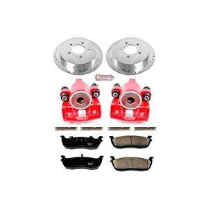 Kc1913 Powerstop Brake Disc And Caliper Kits 2 wheel Set Rear For F150 Truck