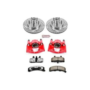 Kc1990 36 Powerstop 2 Wheel Set Brake Disc And Caliper Kits Front For Chevy