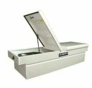 Lund 86250 60 inch Cross Bed Truck Tool Box White Steel New