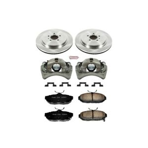 Kcoe6402 Powerstop 2 wheel Set Brake Disc And Caliper Kits Rear For Ford Mustang