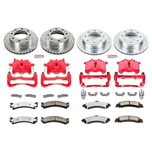 Kc4454 36 Powerstop Brake Disc And Caliper Kits 4 Wheel Set Front Rear For Gmc